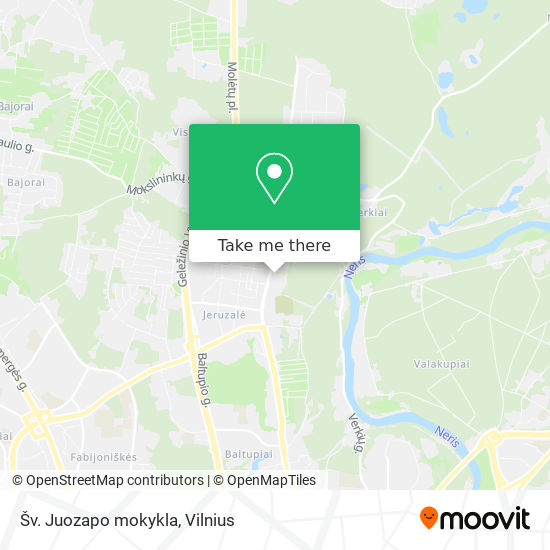 Šv. Juozapo mokykla map