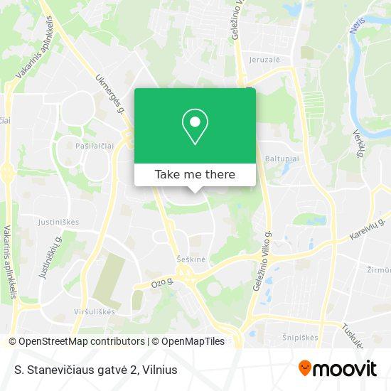 S. Stanevičiaus gatvė 2 map