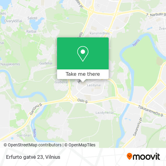 Erfurto gatvė 23 map