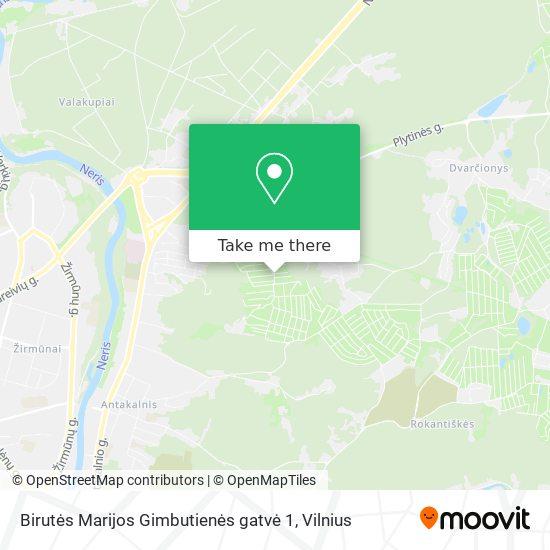 Birutės Marijos Gimbutienės gatvė 1 map
