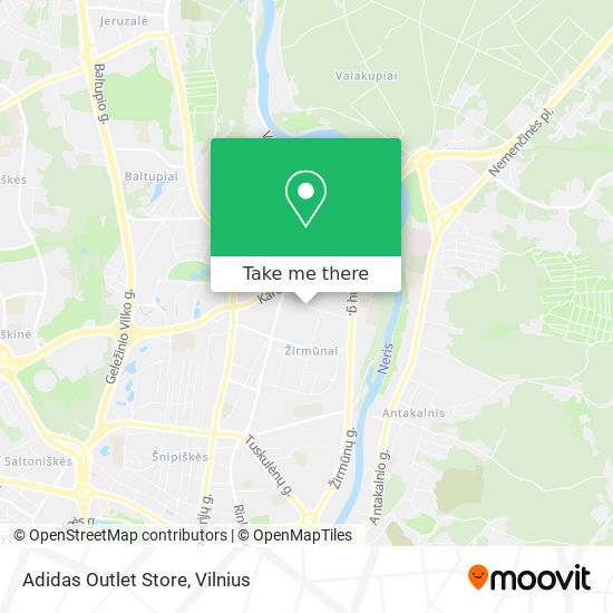 Adidas Outlet Store map