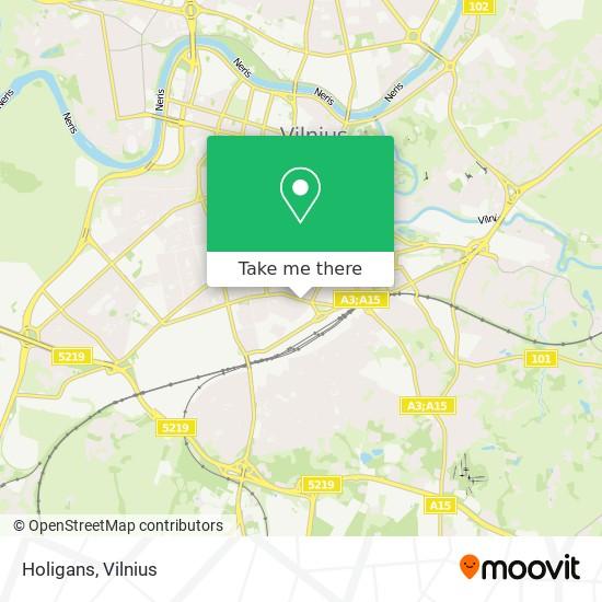 Holigans map