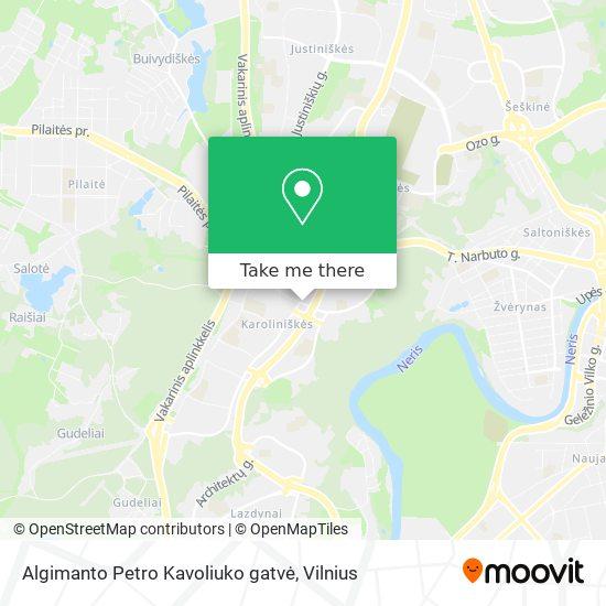 Algimanto Petro Kavoliuko gatvė map
