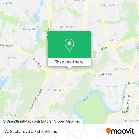 A. Sacharovo aikštė map