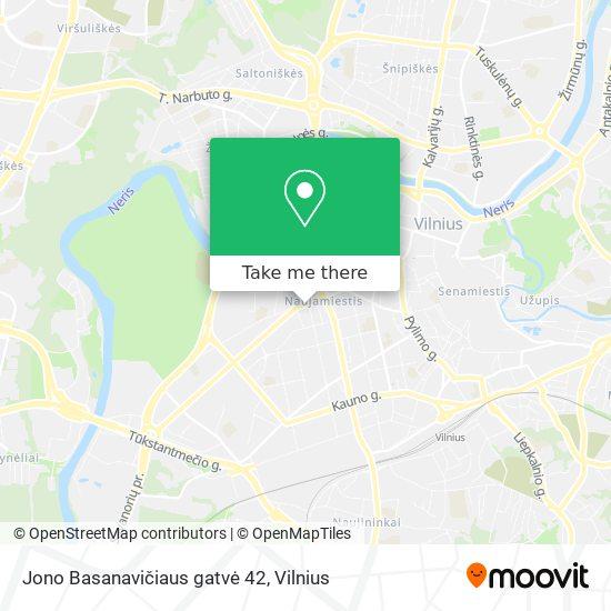 Jono Basanavičiaus gatvė 42 map