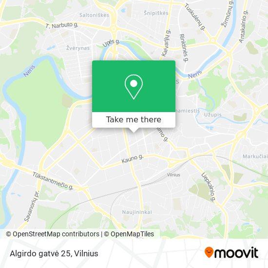 Algirdo gatvė 25 map