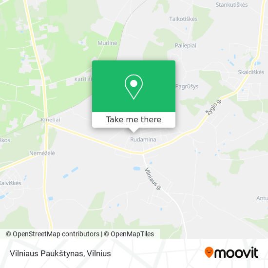 Vilniaus Paukštynas map