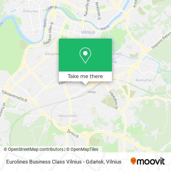 Eurolines Business Class Vilnius - Gdańsk map