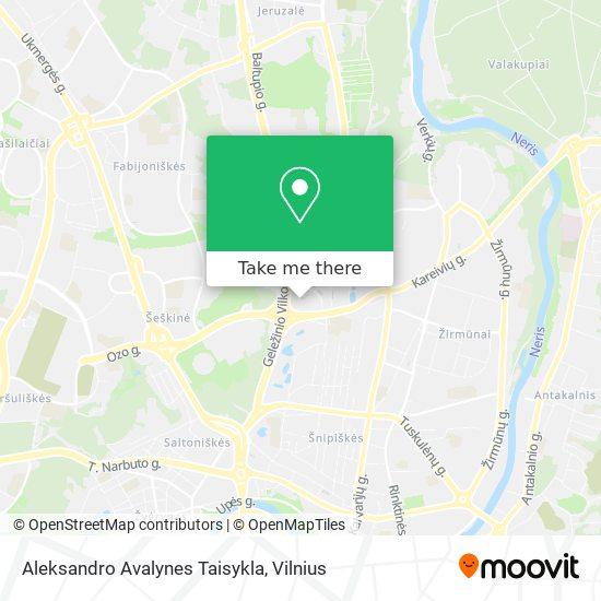 Aleksandro Avalynes Taisykla map