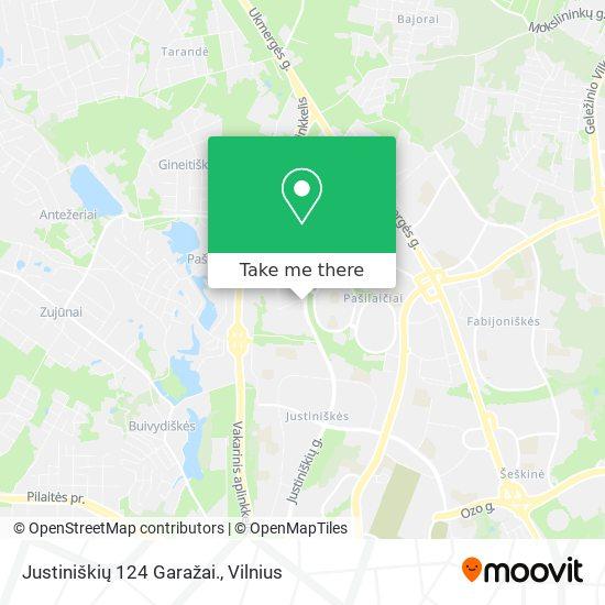 Justiniškių 124 Garažai. map
