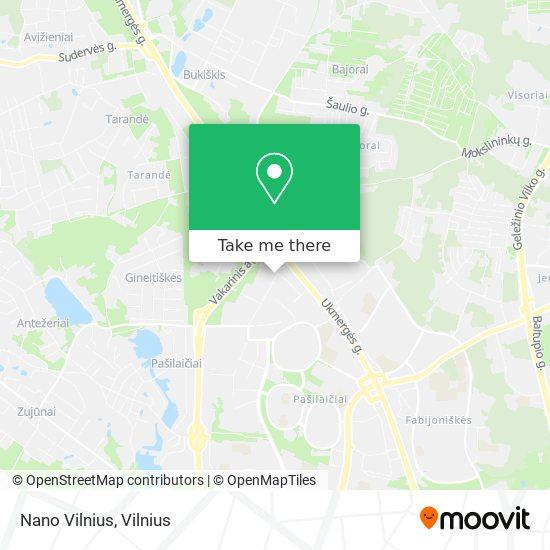 Nano Vilnius map