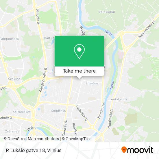 P. Lukšio gatvė 18 map