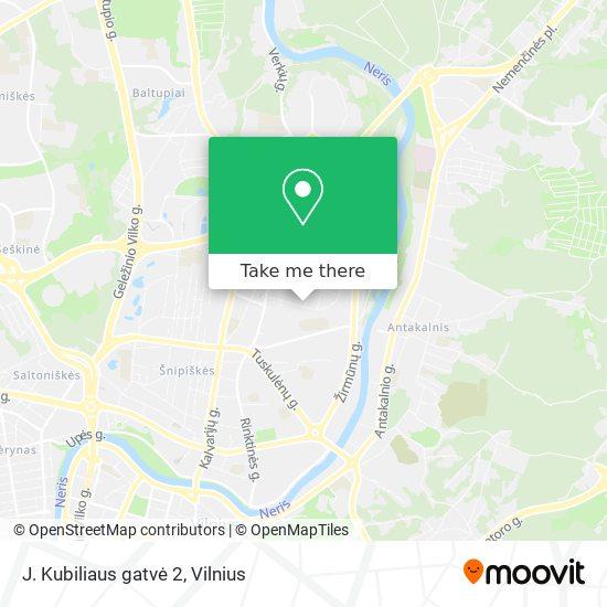 J. Kubiliaus gatvė 2 map