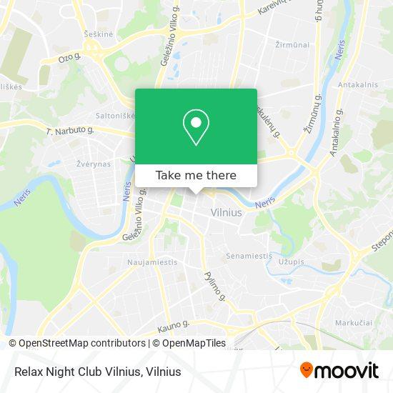 Relax Night Club Vilnius map