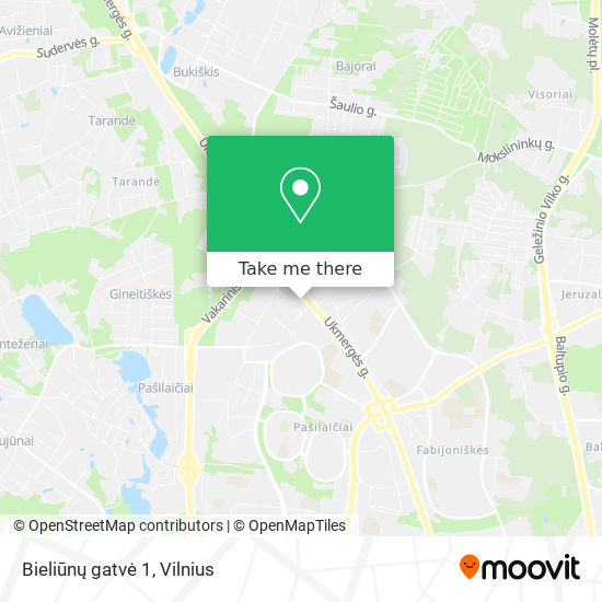 Bieliūnų gatvė 1 map