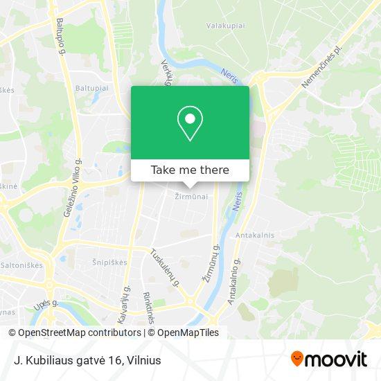 J. Kubiliaus gatvė 16 map