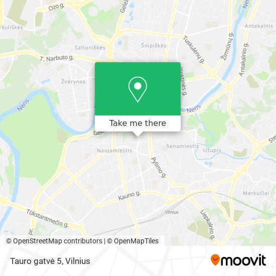 Tauro gatvė 5 map
