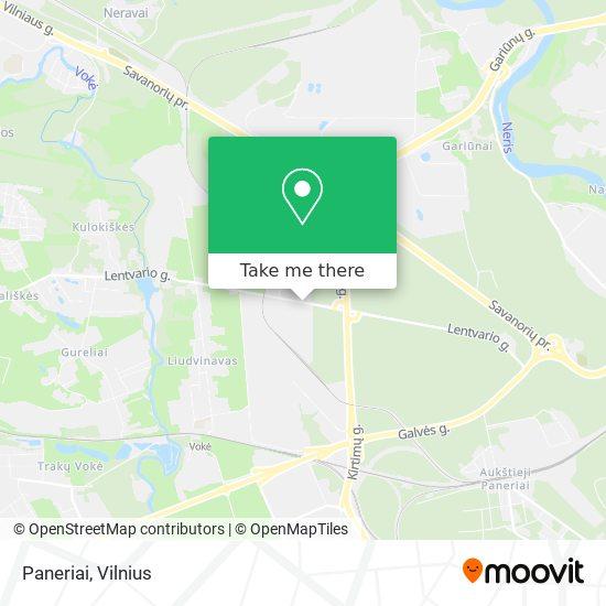 Paneriai map