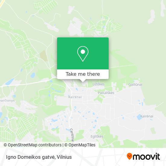 Igno Domeikos gatvė map