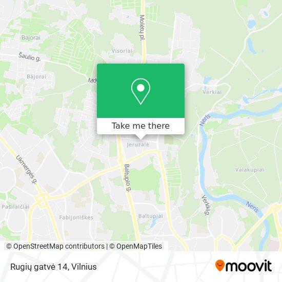Rugių gatvė 14 map