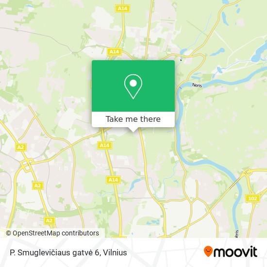 P. Smuglevičiaus gatvė 6 map