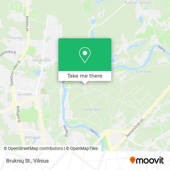 Bruknių St. map