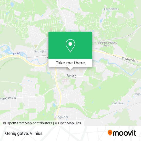 Genių gatvė map
