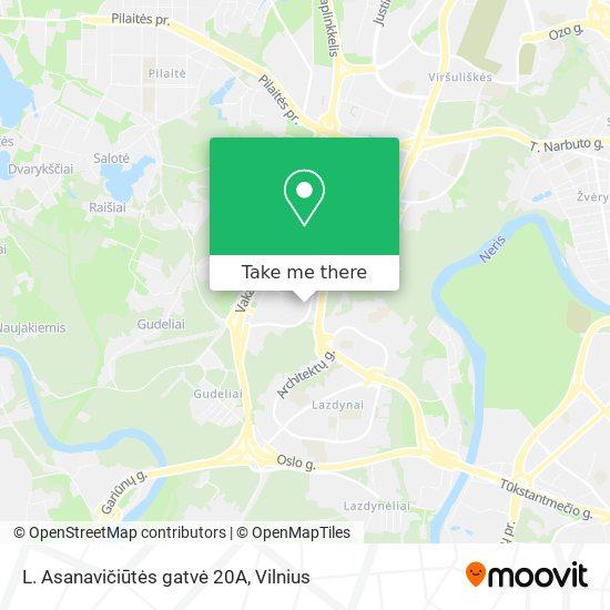 L. Asanavičiūtės gatvė 20A map