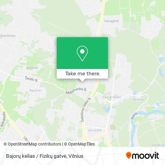 Bajorų kelias / Fizikų gatvė map