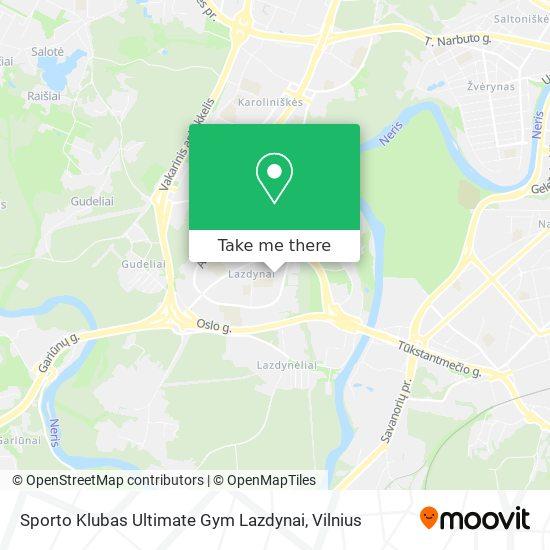 Sporto Klubas Ultimate Gym Lazdynai map