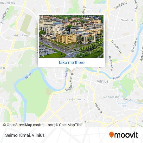 Seimo rūmai map