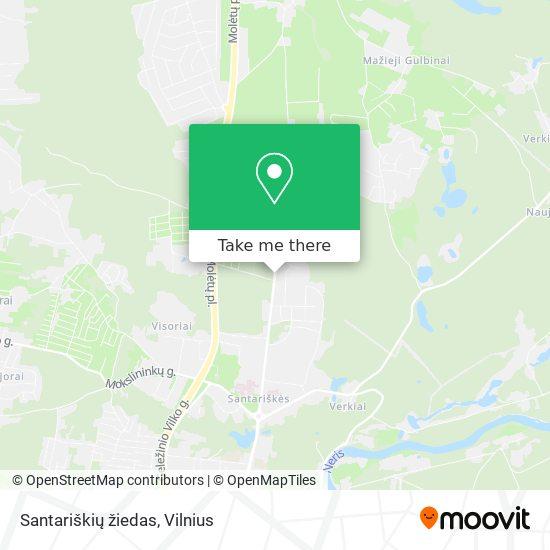 Santariškių žiedas map