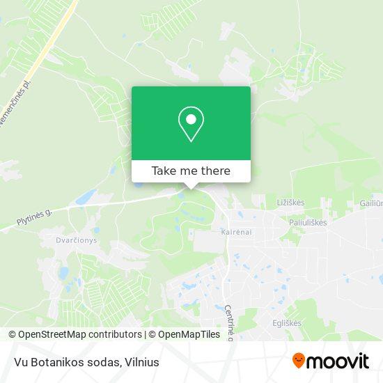 Vu Botanikos sodas map