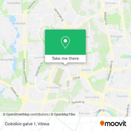 Čiobiškio gatvė 1 map