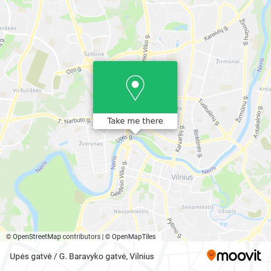 Upės gatvė / G. Baravyko gatvė map