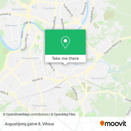 Augustijonų gatvė 8 map