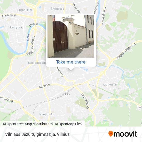 Vilniaus Jėzuitų gimnazija map
