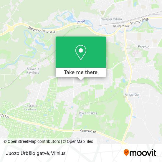 Juozo Urbšio gatvė map
