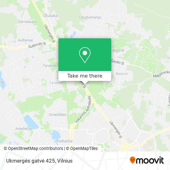 Ukmergės gatvė 425 map
