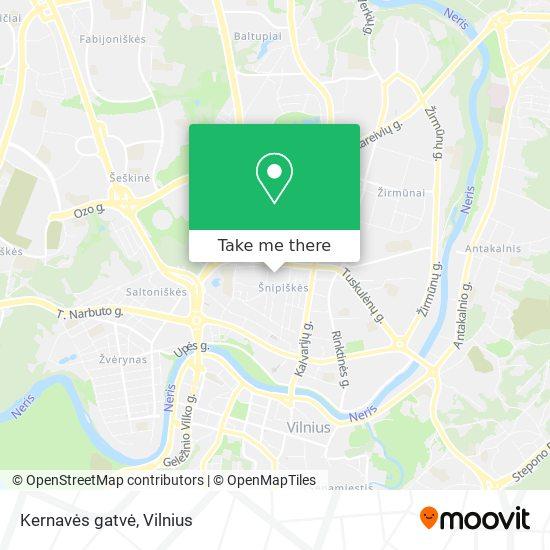 Kernavės gatvė map