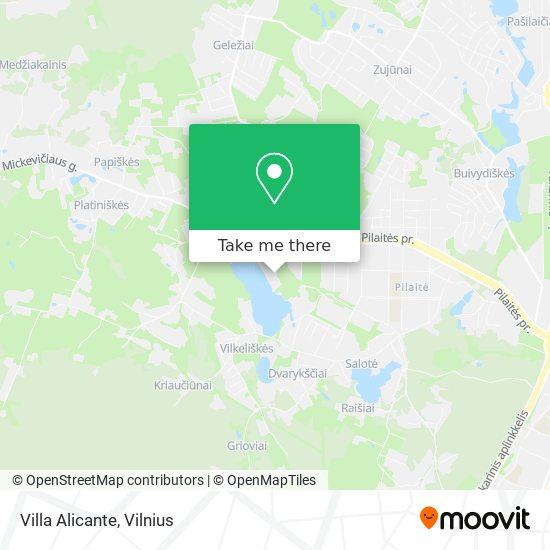Villa Alicante map