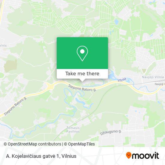A. Kojelavičiaus gatvė 1 map