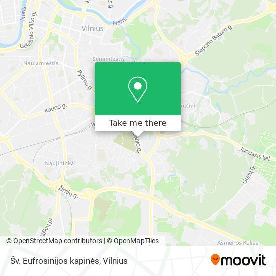 Šv. Eufrosinijos kapinės map
