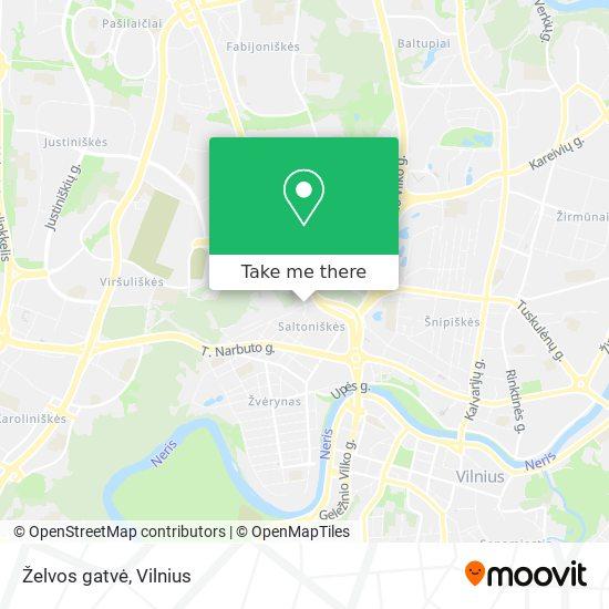 Želvos gatvė map
