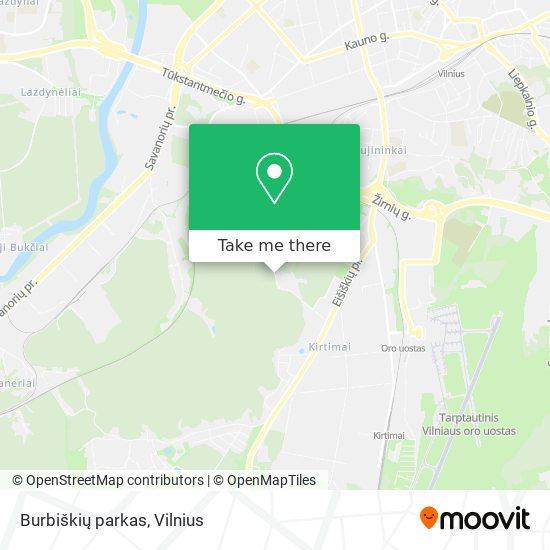 Burbiškių parkas map