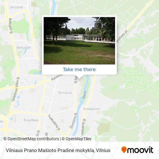 Vilniaus Prano Mašioto Pradinė mokykla map