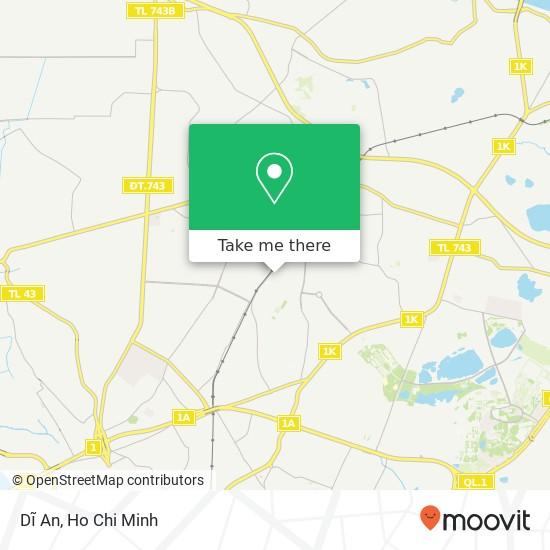 Dĩ An map