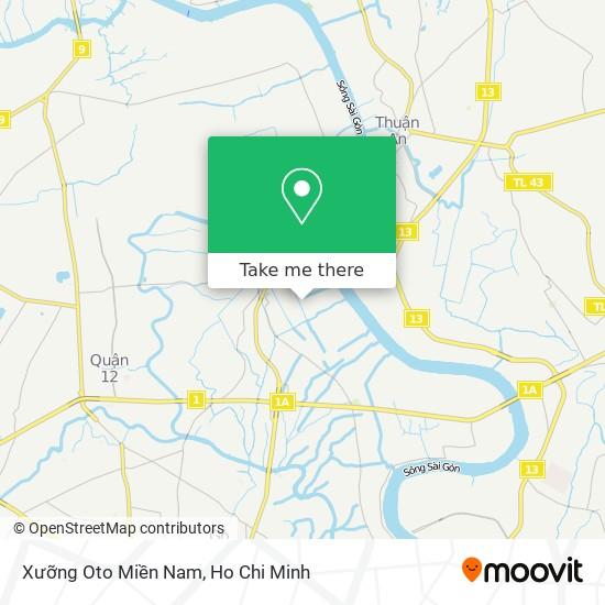 Xưỡng Oto Miền Nam map