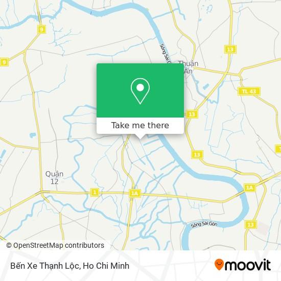 Bến Xe Thạnh Lộc地圖
