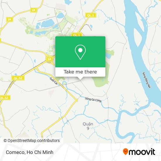 Comeco map